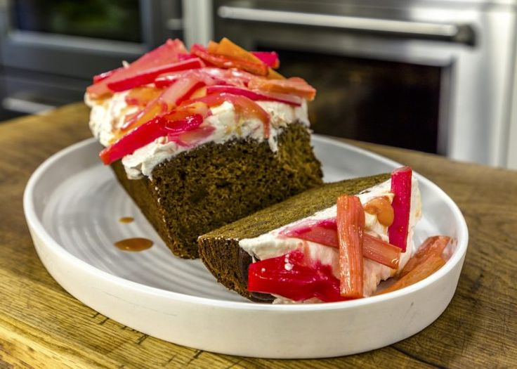 Ginger cake with rhubarb frosting ginger cake james