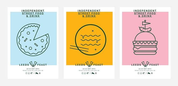 Street Food Festival Posters| Lucas Jubb Design & Illustration