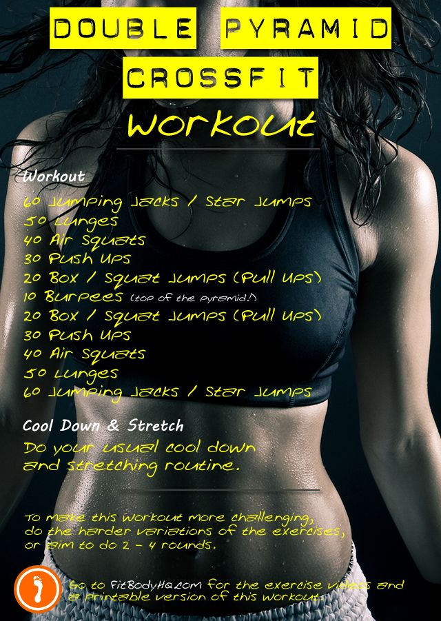 Double Pyramid CrossFit Workout - Full Body, No Equipment! | FitBodyHQ