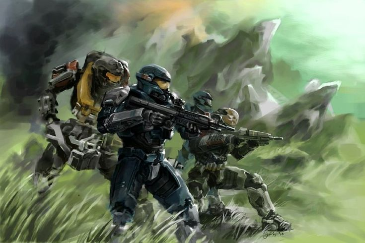 Halo Reach: Noble Team by ~Justinian84 http://justinian84.deviantart.com/