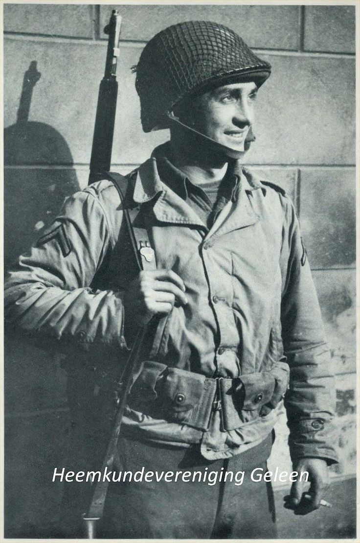 Een van de Amerikaanse soldaten die Gelaen heeft bevrijd in WO II.