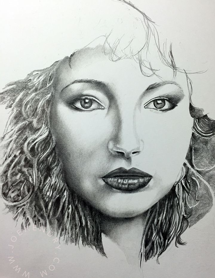 Kate Bush Pencil Drawing