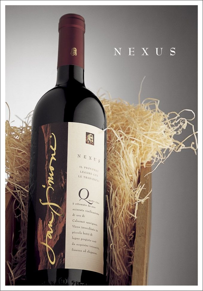 "San Simone Cabernet Sauvignon DOC ""Nexus""......... Nexus, a Latin noun which means ""binding or linking together"". We picked this name to emphasise on the fact that we strongly believe in binding our tradition, culture and territory together."