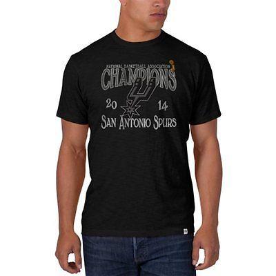 San Antonio Spurs 47 Brand 2014 NBA Champions Logo Black Scrum T-Shirt