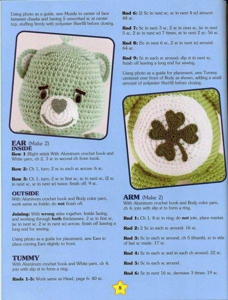 Amigurumi Care Instructions : Artesanato com amor...by Lu Guimaraes: Revista Care Bears ...