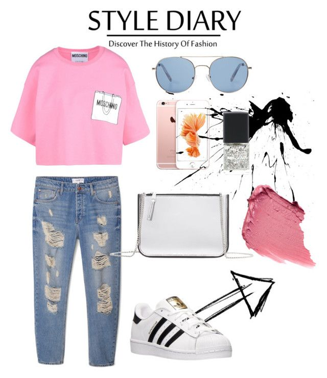 """Без названия #2"" by leritoburito on Polyvore featuring мода, MANGO, Moschino и adidas"
