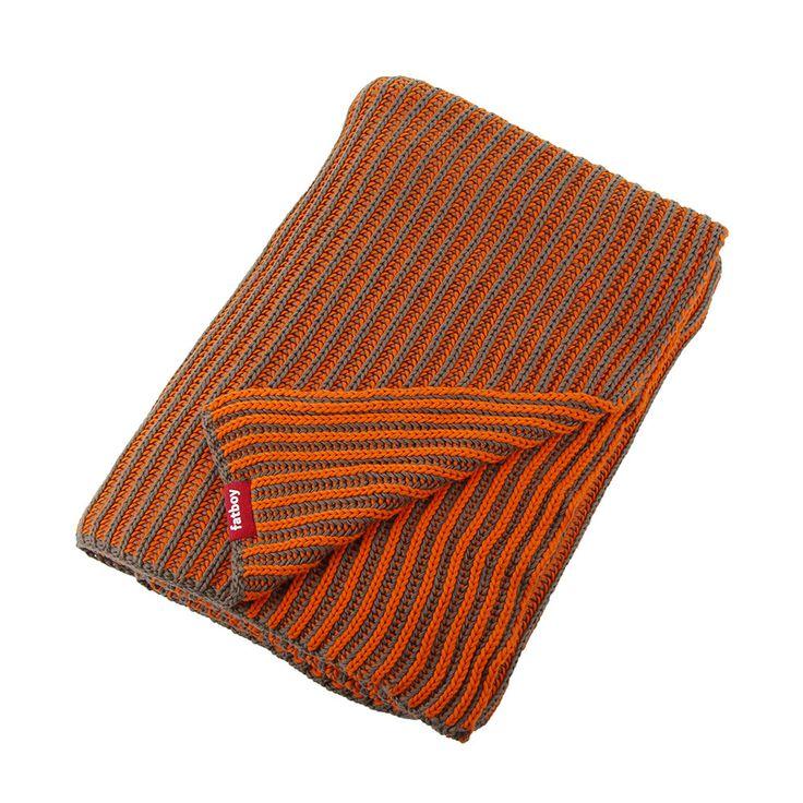 Discover the Fatboy Klaid Blanket - Taupe / Neon Orange at Amara