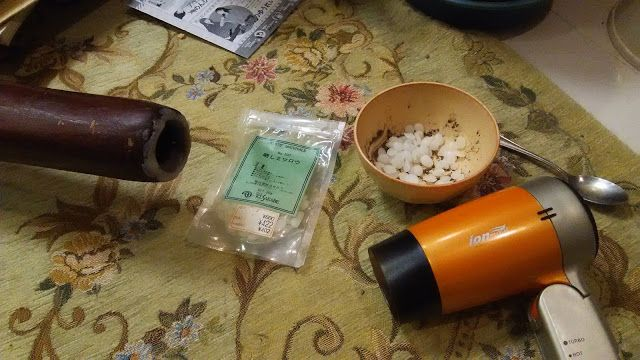 自宅録音研究所|Recording Audio At Home: ディジュリドゥの吹き口に蜜蝋を盛り付ける|リペア