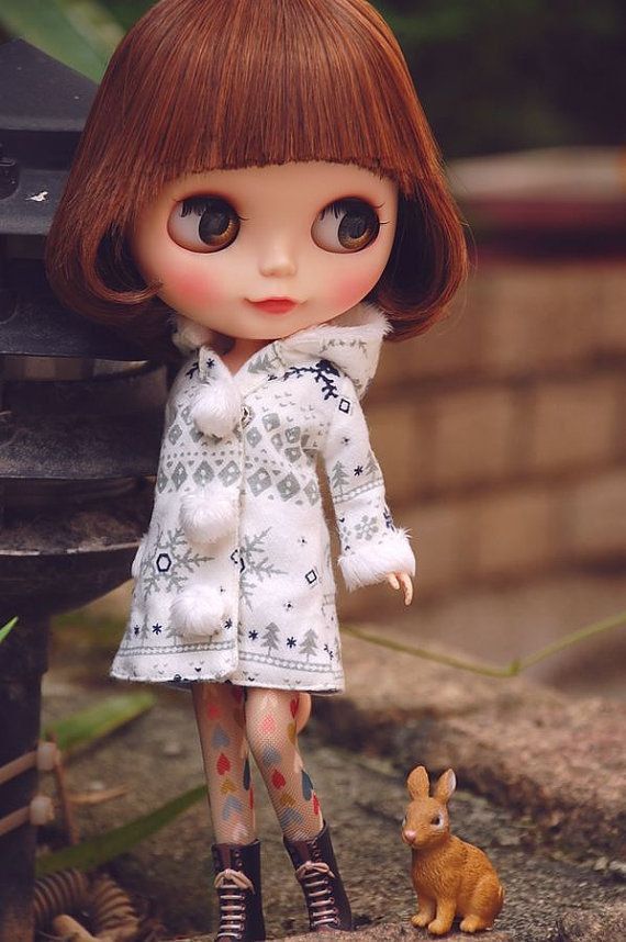 Blythe winter hooded coat....C only coat for sale wish you would like it ^~^