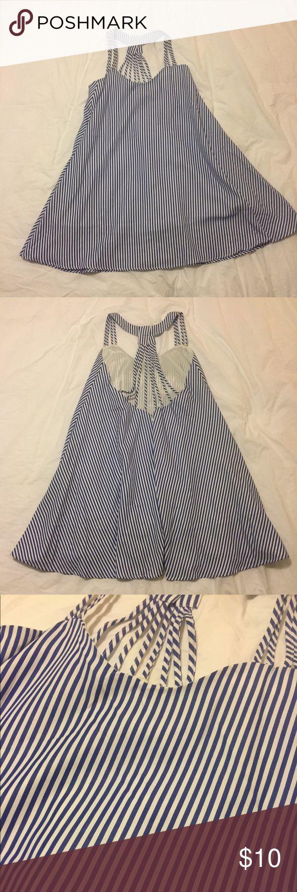 I just added this listing on Poshmark: Preppy Blue & White Striped Trapeze Dress. #shopmycloset #poshmark #fashion #shopping #style #forsale #Dresses & Skirts