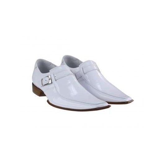Pánske kožené extravagantné topánky biele PT033 - manozo.hu