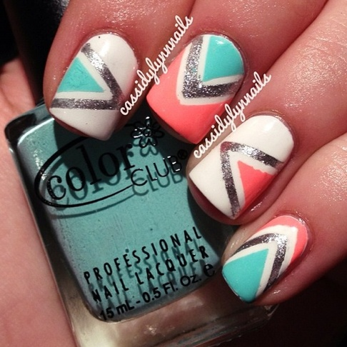 So easy and cute all u need it tape nail polish and nail polish remover :)