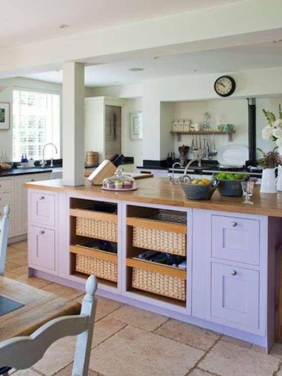 Rinnovare una cucina in legno | Cucina viola, Decorazione ...