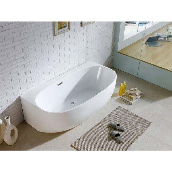 Malibu Home Mhmr6042a01 Marco Oval Massaging Air Jet Bathtub