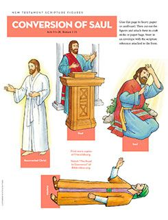 New Testament Scripture Figures, Conversion of Saul