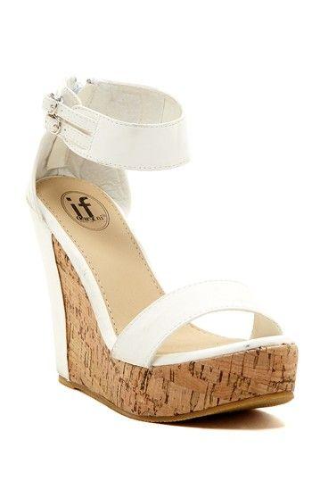 Carrini Ankle Strap Wedge Sandal