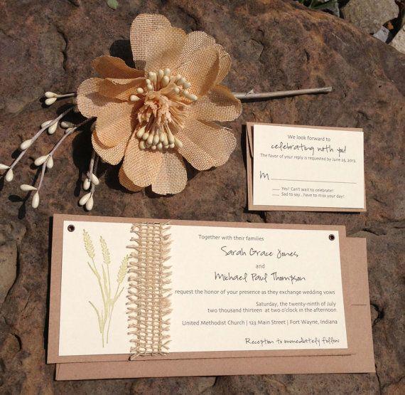 Fall Wedding Invitations . Wedding by ArielShulerDesign on Etsy, $2.75