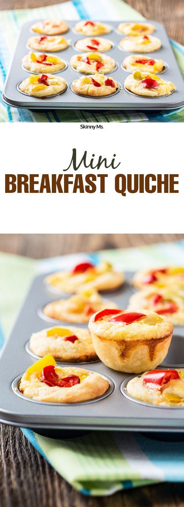A delicious way to start the day--Mini Breakfast Quiche!