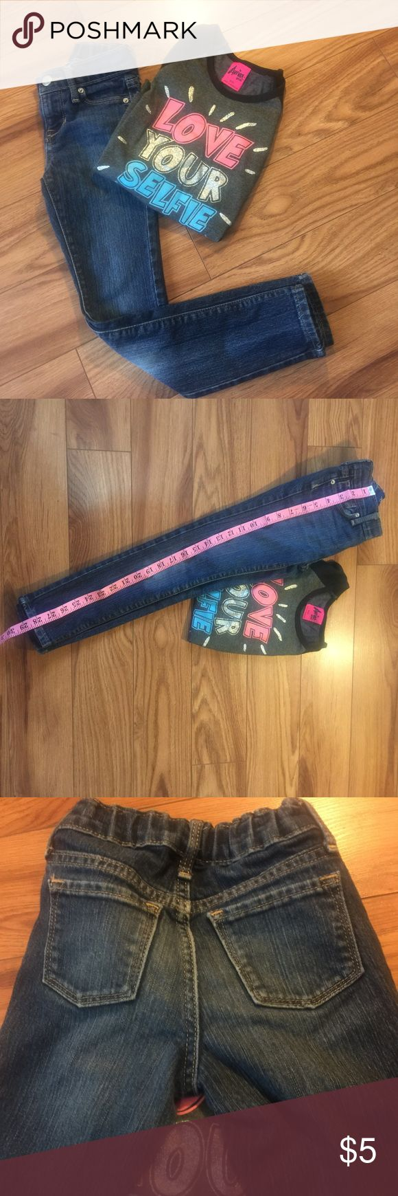 Old  Navy Girls Jeans Old Nacy girl jeans Size 7 slim. Have been washed a couple of times but still in good condition. Measurements included in photos. No trades Old Navy Bottoms Jeans