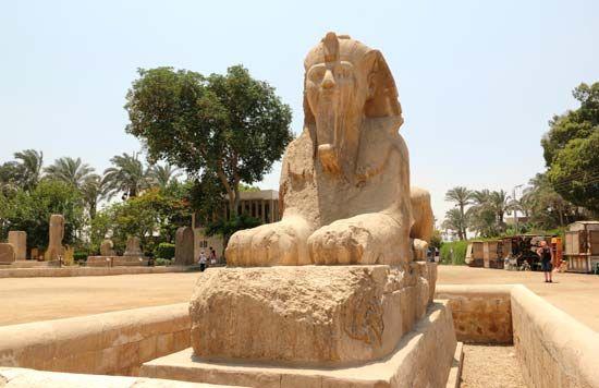 Memphis, Egypt: alabaster sphinx [Credit: © eugen_z/Fotolia]