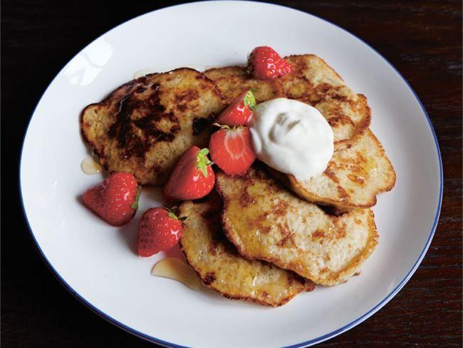 """Recept på bananpannkakor från Hälsoappen Wellie. Receptet kommer ursprungligen från """"Paulúns Fastfood"""" (Fitnessförlaget)."""