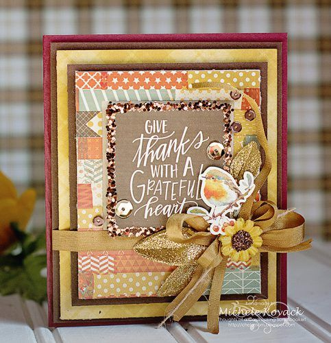 Give Thanks card by Michele Kovack