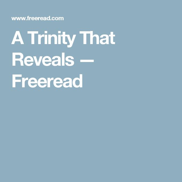 A Trinity That Reveals — Freeread