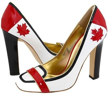 Shoes ..... perfect for a proud Canadian gal ... lol