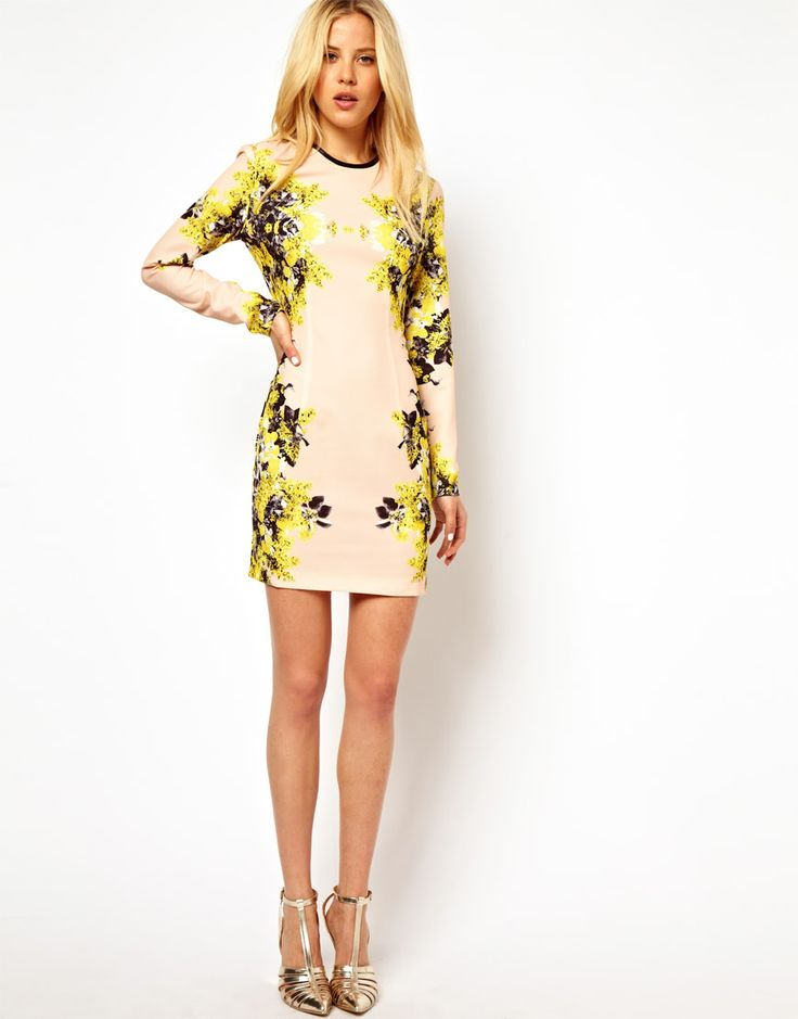 ASOS | ASOS Mirror Floral Dress at ASOS Check out the Asos Sale here! http://rstyle.me/~MV6Q