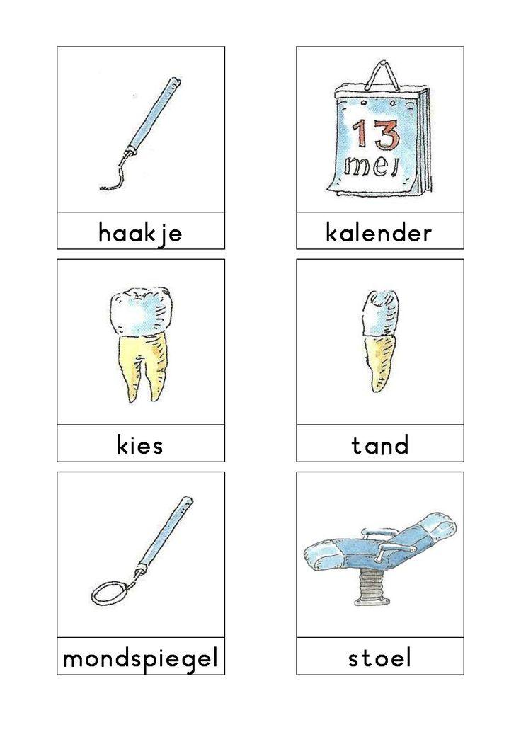 Woordkaarten Bas 'De tandarts' 2
