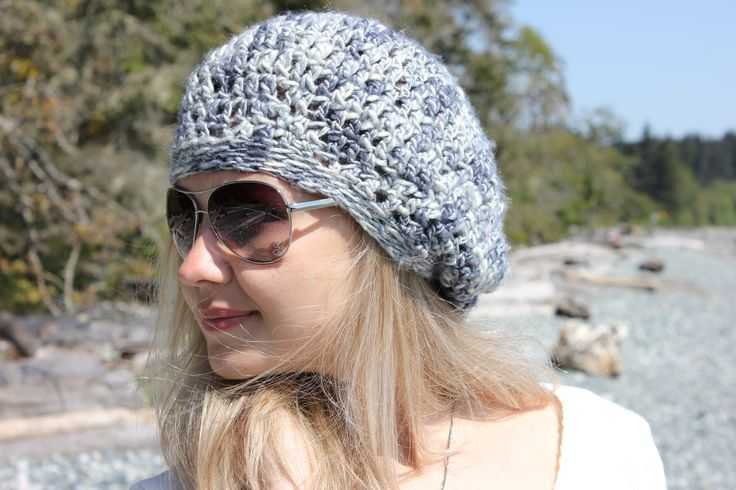 Slouchy hat in the variegated Mulberry Silk. Allergic to wool? Sensitive skin? No worries - it is SILK. www.facebook.com/KnitEleganza