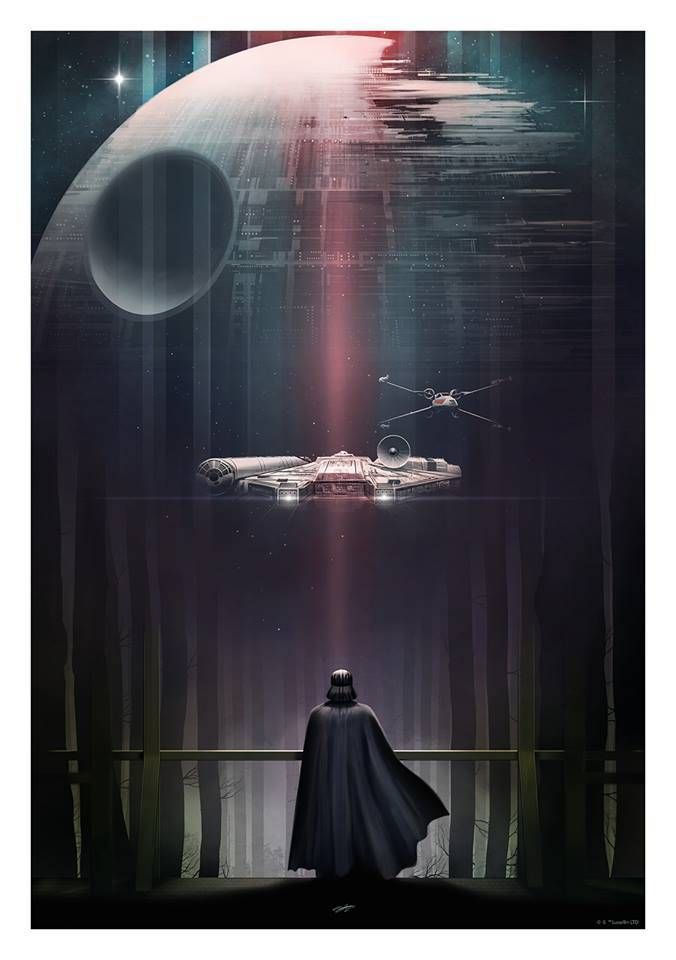 Artist Andy Fairhurst has created this set of beautiful posters inspired by  the original Star Wars trilogy. The posters were created for Bottleneck  Gallery, and I wish I would have comeacrossthem sooner, because they're  all sold out now. Fairhurst is a talented artist, and I absolutely love
