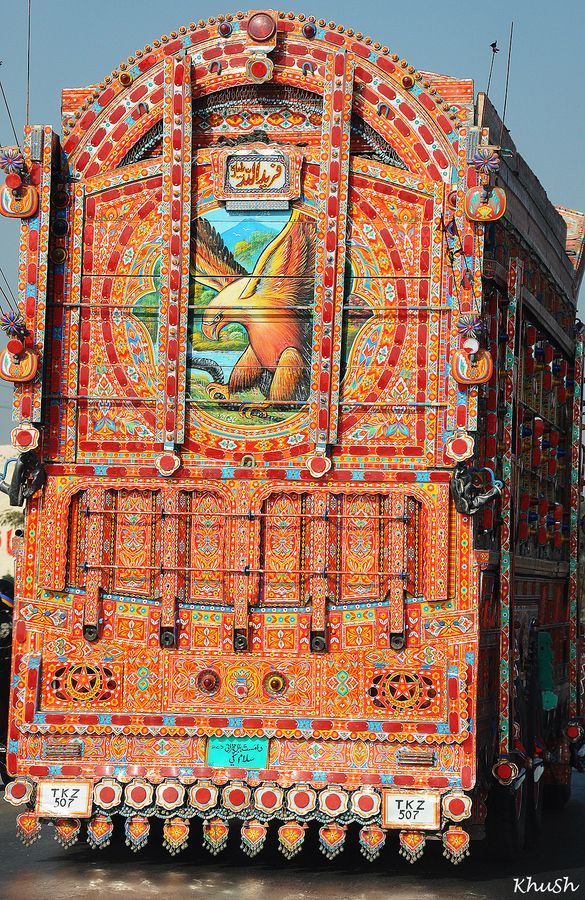 Truck Art in Pakistan by Khurram Shehzad with Pin-It-Button on 500px