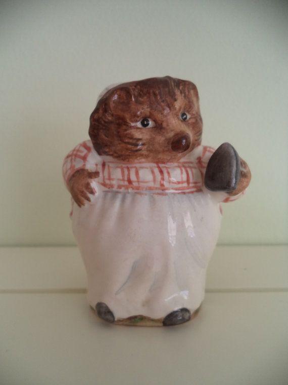 Beatrix Potter figurine Mrs. Tiggy Winkle by fatjoeyknitwear