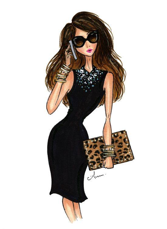 Grabado de ilustración de moda el Editor por anumt en Etsy