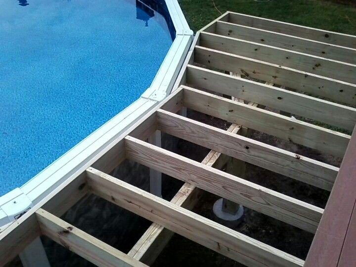 trex composite pool and porch decking with severe weather railings