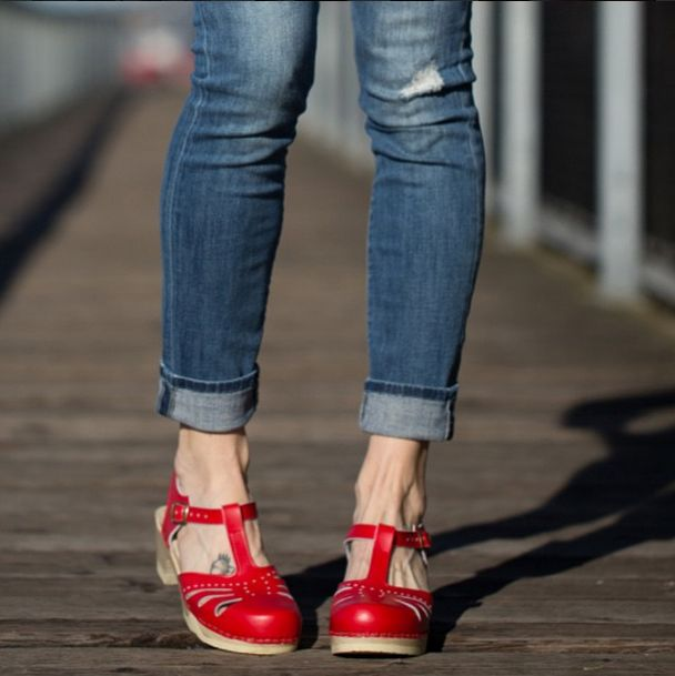 Red Clogs! Lacy Clogs by Sven Clogs https://www.svensclogs.com/catalogsearch/result/?q=lacy