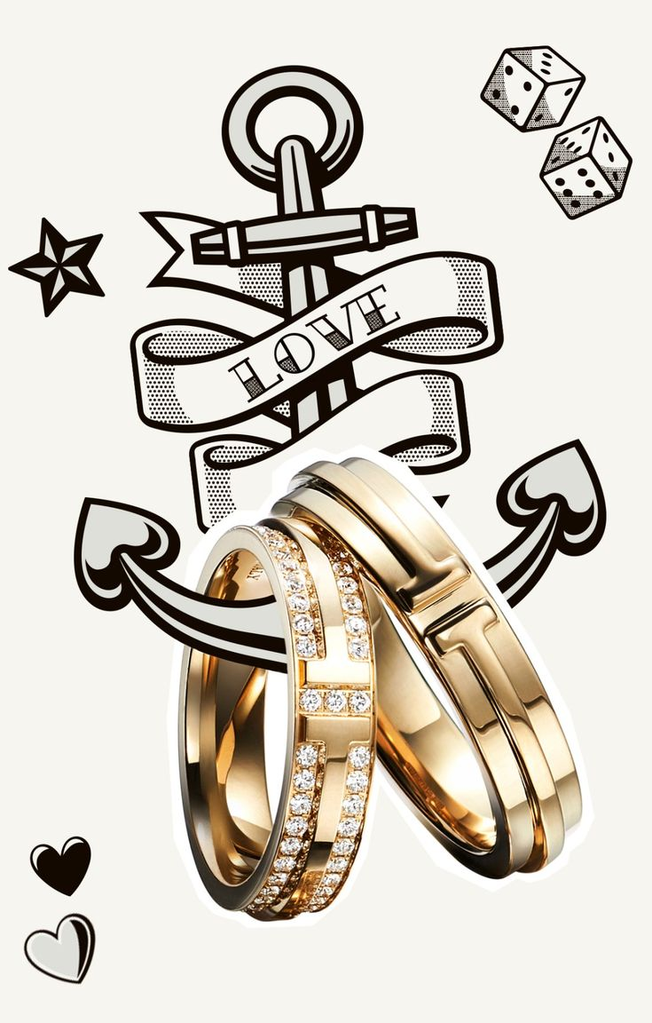 Tiffany T Two rings in 18k gold are the perfect pair for the perfect pair.
