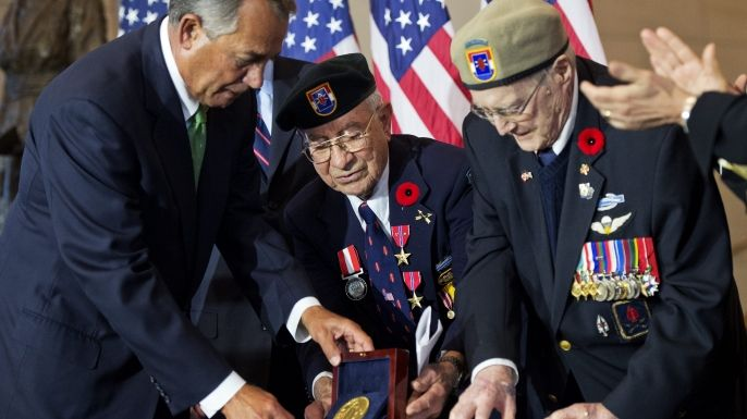 """The elite WWII commando unit nicknamed the """"Devil's Brigade"""" has received the Congressional Gold Medal, America's highest civilian honor."""