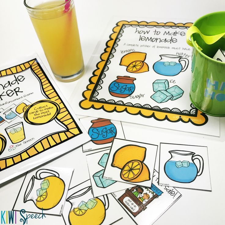 Great for drill practice for any speech and language goals - this open-ended game has students collecting the ingredients they need to make as many full jugs of lemonade as possible! Perfect for articulation drill or language goals!