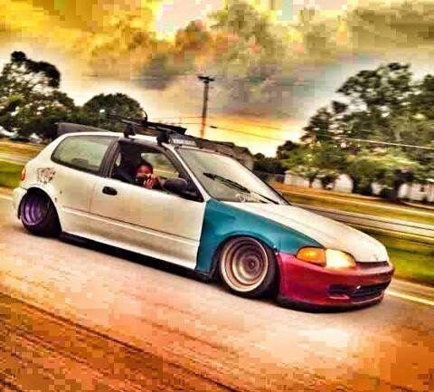 #Honda #Civic #eq #Slammed #Stance #Camber #Modified