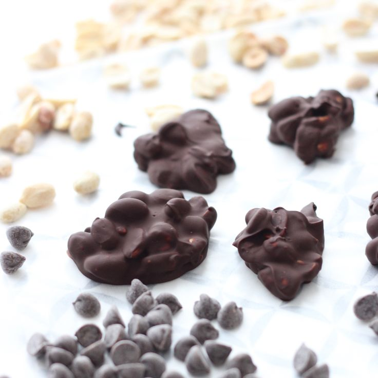 Peanut Chocolate Clusters | Living Well Kitchen