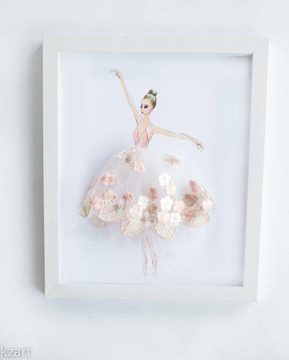 88f631a1806 Ballerina dancingGirls Room DecorBallerina Gift Ballerina Ballet Nursery,  Ballet Bedroom, Baby Nursery Decor,