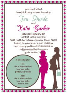 Double Baby Shower Invitations Wording