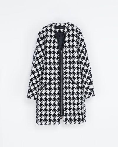 Image 6 of HOUNDSTOOTH COAT from Zara