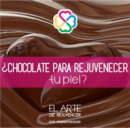 ¡El chocolate! Su alto contenido en antioxidantes no solo nutre por dentro nuestro organismo (cacao al 100%), sino que también permite reafirmar la piel y mantener su aspecto juvenil, aportando elasticidad y fomentado la construcción de colágeno y elastina, a la vez que combate los radicales libres y su daño celular. También es un excelente tratamiento para humectar e hidratar la piel.   Visita: http://www.mariamontemayor.com/#!el-arte-de-rejuvenecer/c17ly