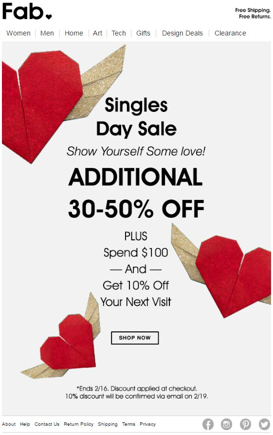 Single's Day from Fab
