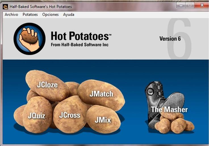 http://hotpot.uvic.ca/#downloads ¿QUE ES? HOT POTATOES.. Es un programa freeware que permite elaborar ejercicios . ¿PARA QUÉ SIRVE? Elaborar rellenar los huecos, crucigramas y emparejamiento. ¿QUE ACTIVIDADES PODRÍAN APOYAR LA FORMACIÓN ACADÉMICA? Reforzamiento de conocimientos. ¿QUE SE NECESITA PARA PODER SACAR PROVECHO DE ÉSTA HERRAMIENTA? Instalar la aplicaciòn. ¿QUE ROL JUEGA EN EL PROCESO DE APRENDIZAJE? Modificación.  ¿COSTO? No.