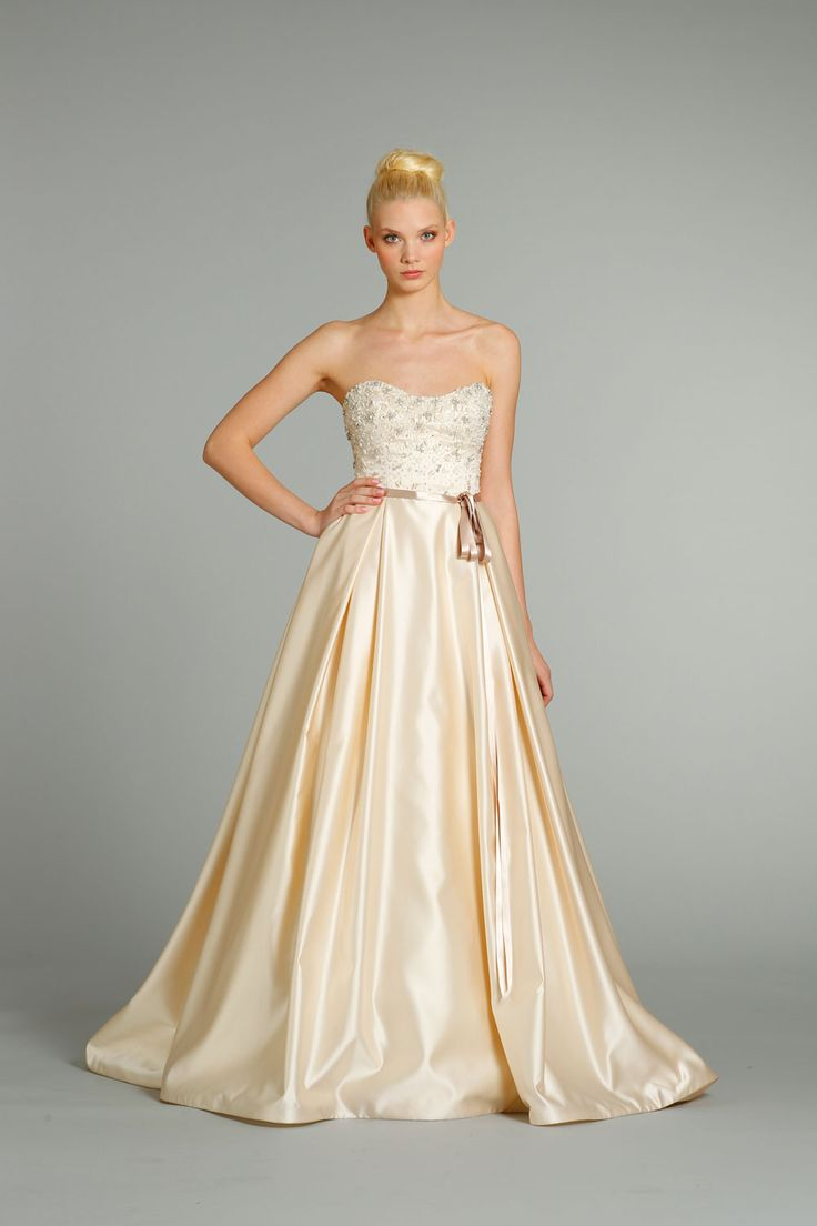 Fall 2012 Wedding Dresses JLM Couture Bridal Jim Hjelm 8257 Front And Fashion White Dress