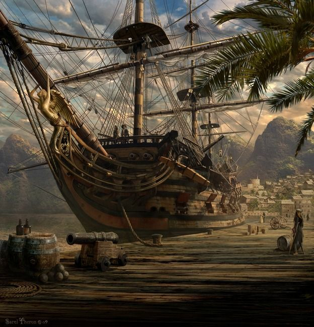 Port Royal, Jamaica by Sarel Theron.  Home of the Buccaneers and Pirate, Henry Morgan.